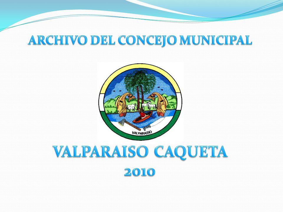 ARCHIVO DEL CONCEJO MUNICIPAL