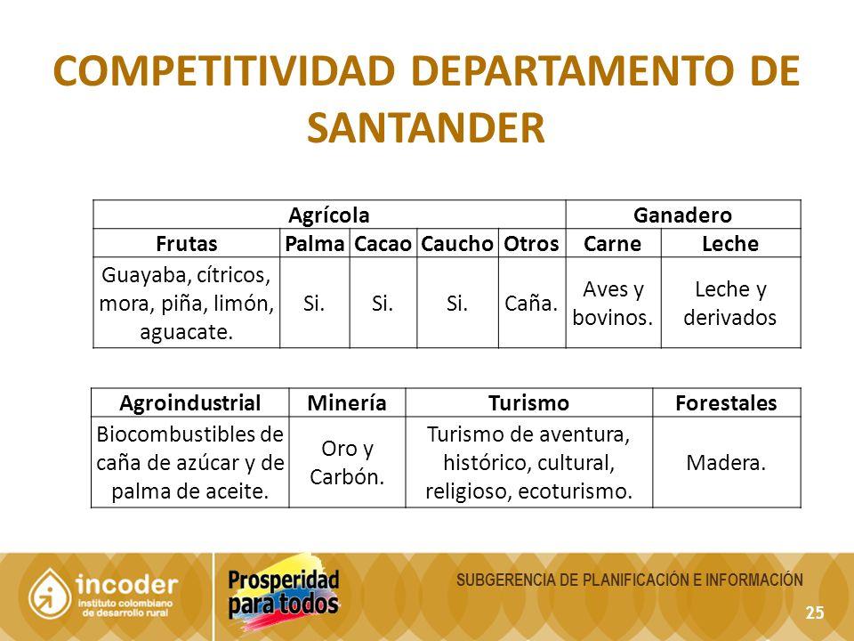 Competitividad departamento de Santander