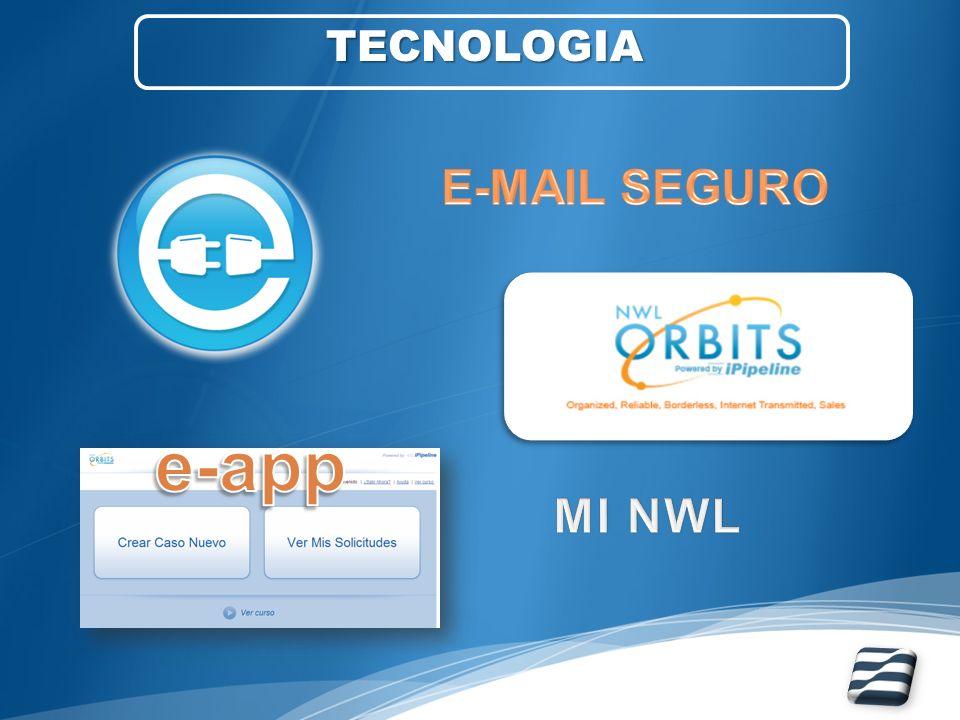 TECNOLOGIA E-MAIL SEGURO e-app MI NWL