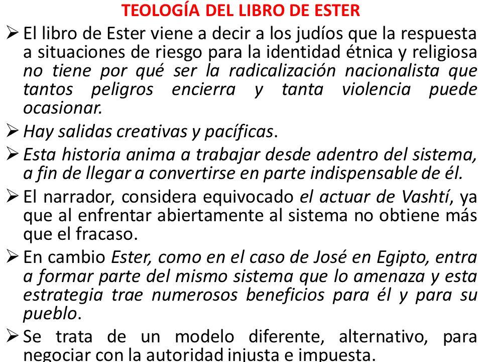 TEOLOGÍA DEL LIBRO DE ESTER