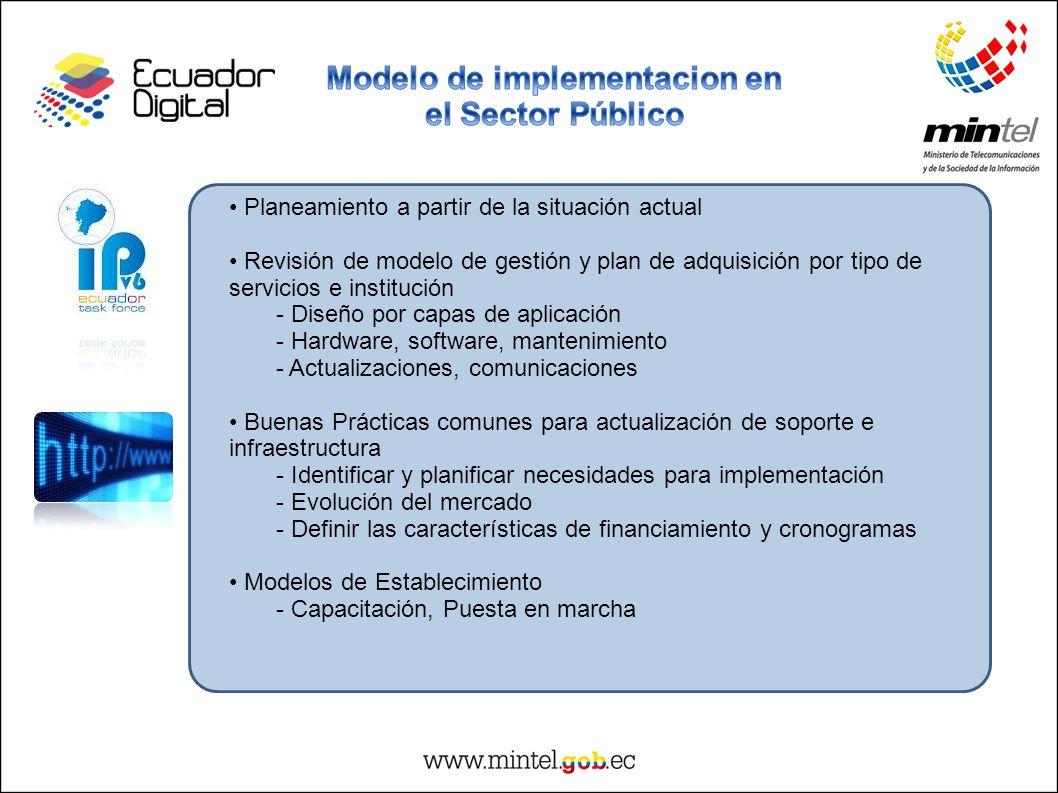 Modelo de implementacion en el Sector Público