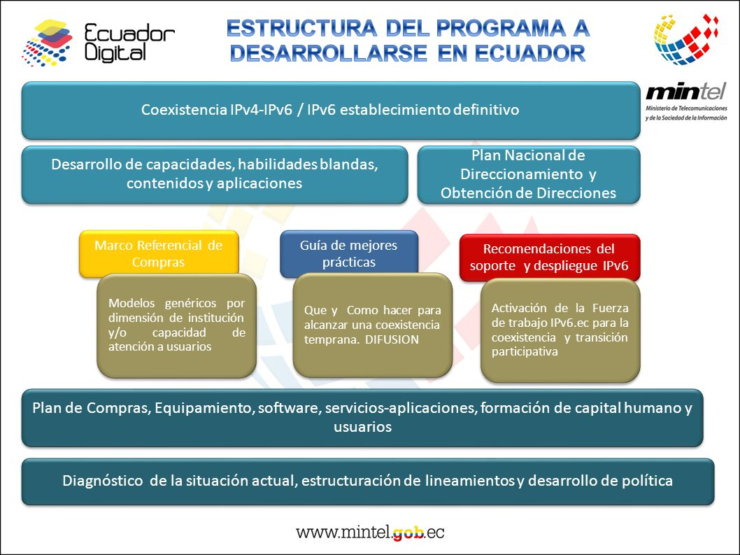 ESTRUCTURA DEL PROGRAMA A DESARROLLARSE EN ECUADOR