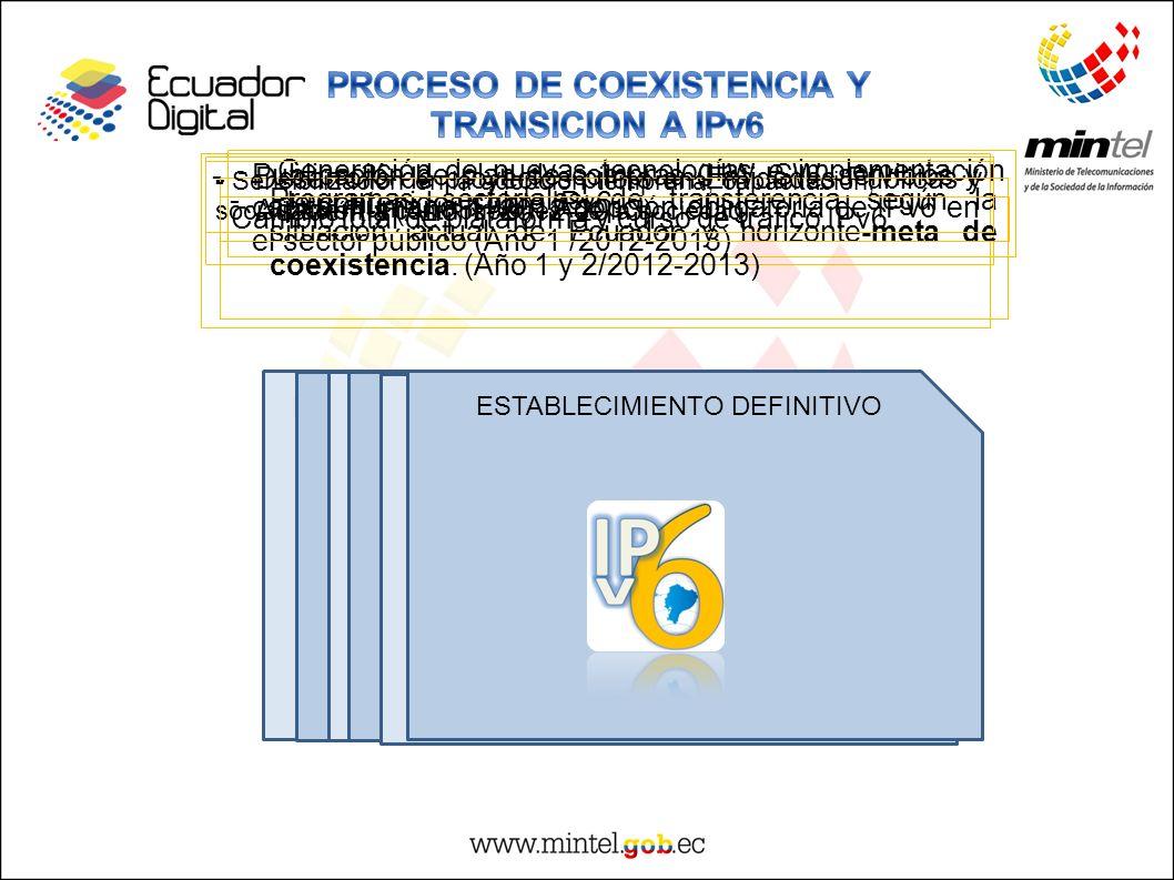 PROCESO DE COEXISTENCIA Y TRANSICION A IPv6