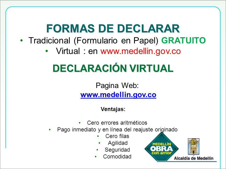 FORMAS DE DECLARAR DECLARACIÓN VIRTUAL