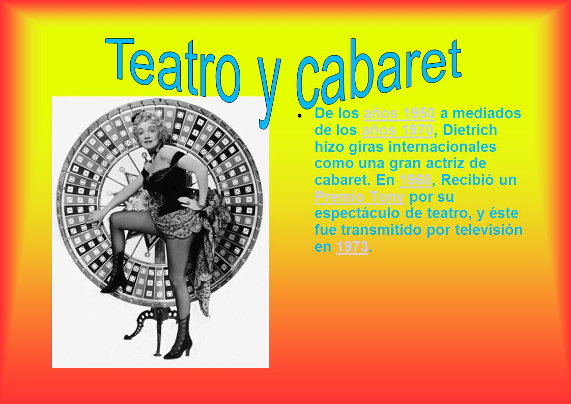 Teatro y cabaret