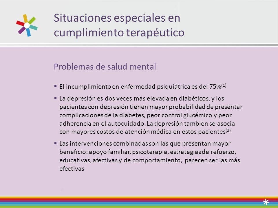 Situaciones especiales en cumplimiento terapéutico