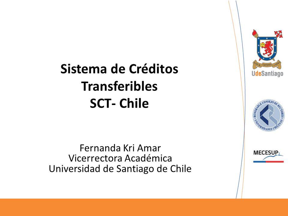 Sistema de Créditos Transferibles SCT- Chile