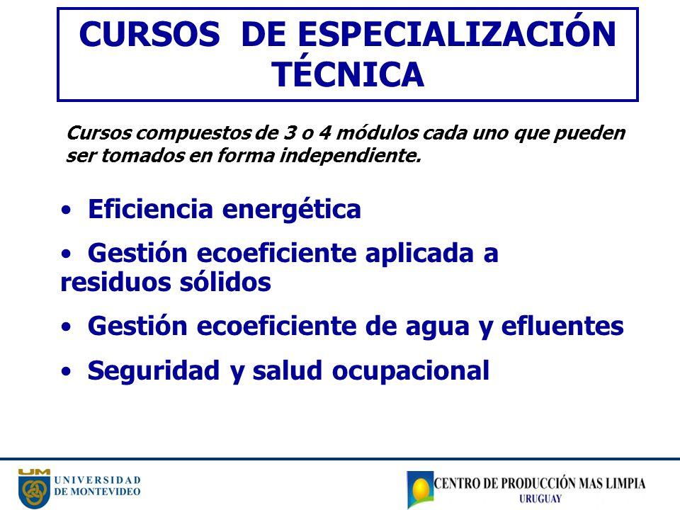 CURSOS DE ESPECIALIZACIÓN TÉCNICA