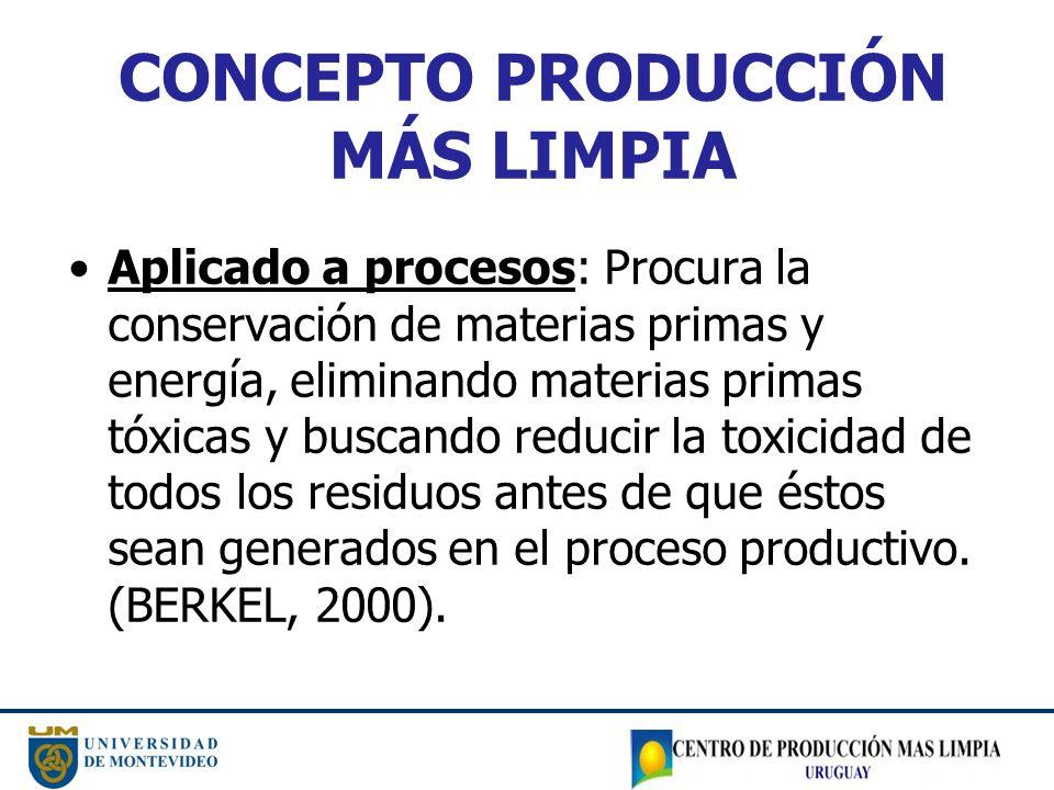 CONCEPTO PRODUCCIÓN MÁS LIMPIA