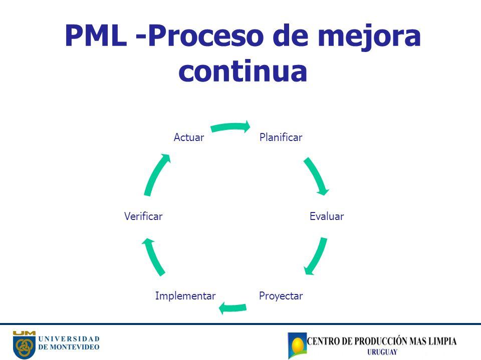 PML -Proceso de mejora continua
