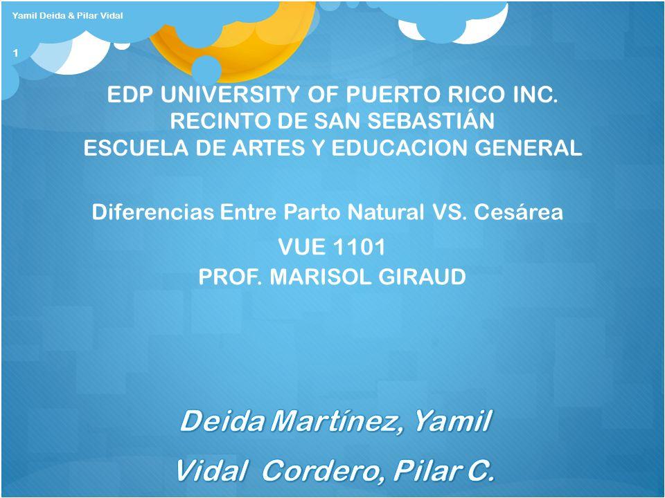 Deida Martínez, Yamil Vidal Cordero, Pilar C.