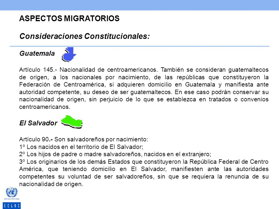 Consideraciones Constitucionales: