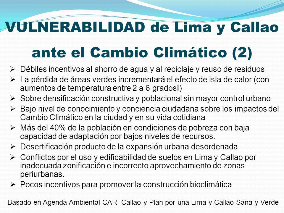 VULNERABILIDAD de Lima y Callao ante el Cambio Climático (2)