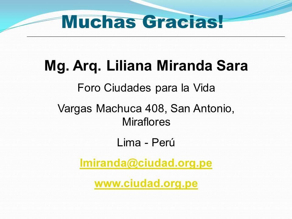 Mg. Arq. Liliana Miranda Sara