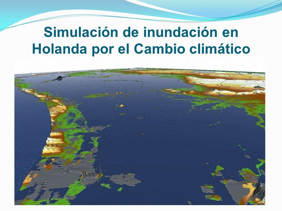 Simulación de inundación en Holanda por el Cambio climático
