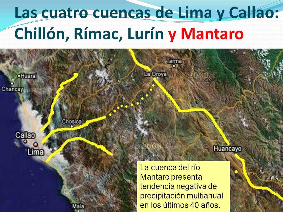 Las cuatro cuencas de Lima y Callao: Chillón, Rímac, Lurín y Mantaro