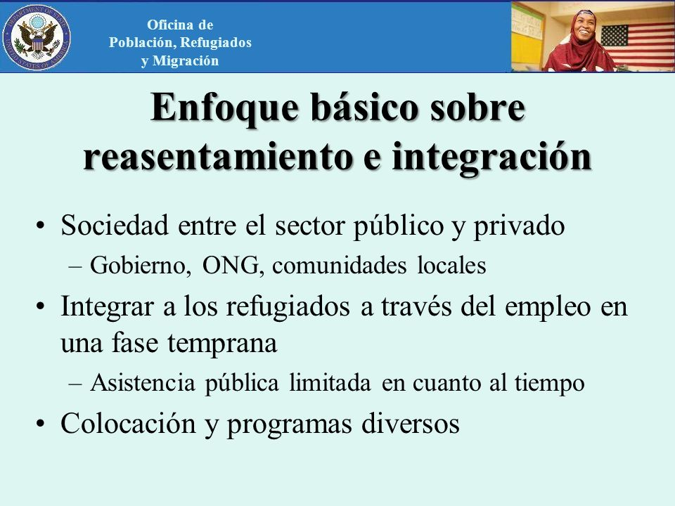 Enfoque básico sobre reasentamiento e integración