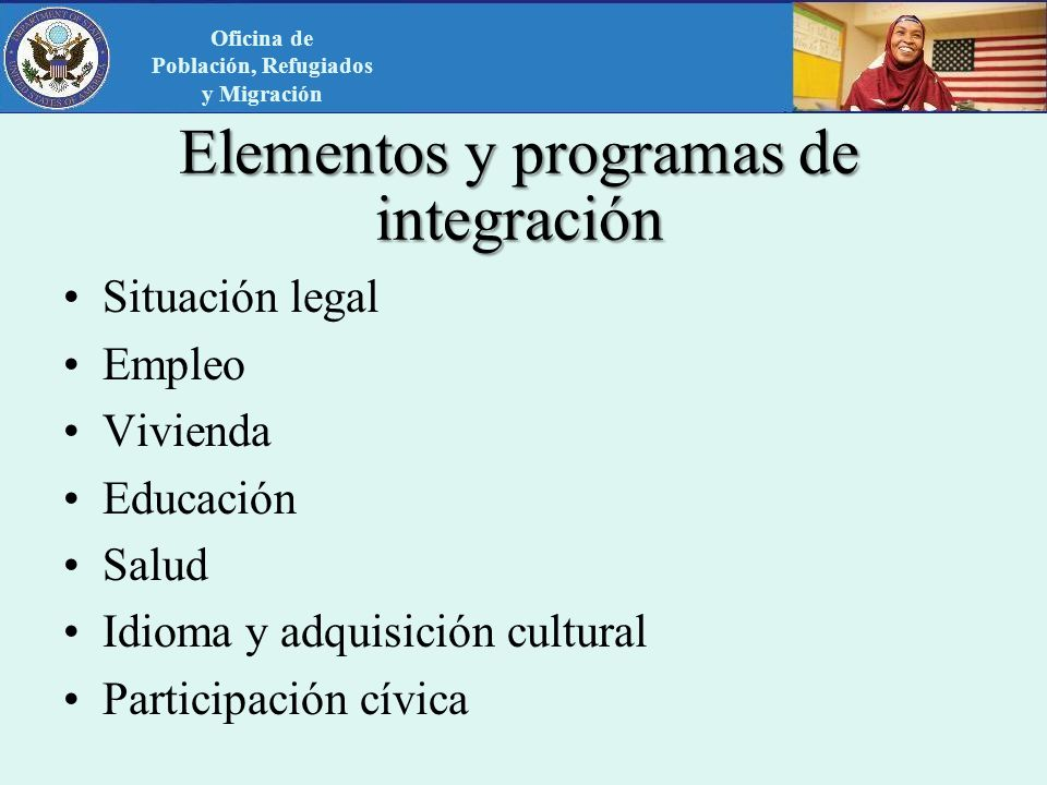 Elementos y programas de integración