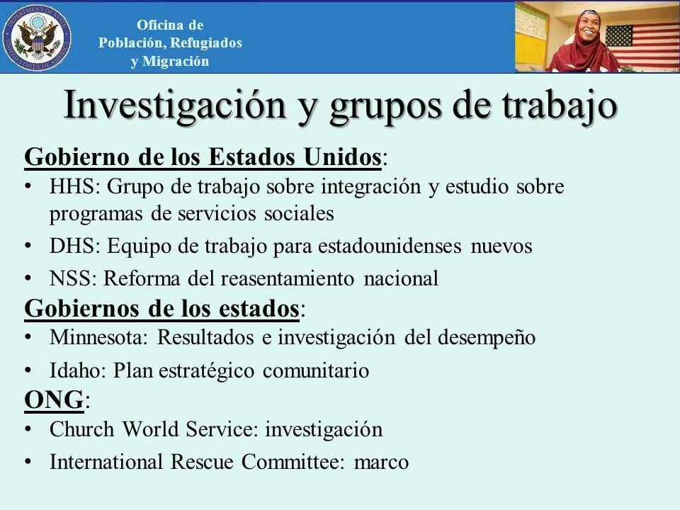 Investigación y grupos de trabajo