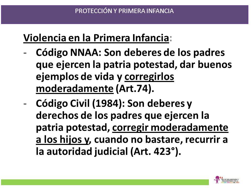 PROTECCIÓN Y PRIMERA INFANCIA