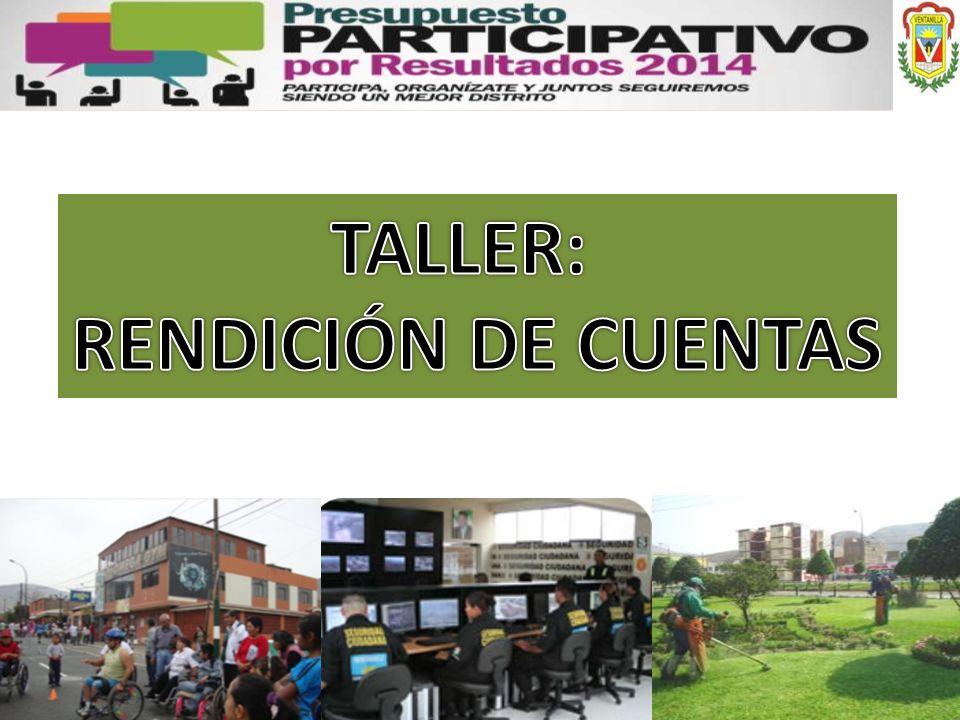 TALLER: RENDICIÓN DE CUENTAS