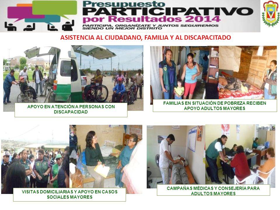ASISTENCIA AL CIUDADANO, FAMILIA Y AL DISCAPACITADO