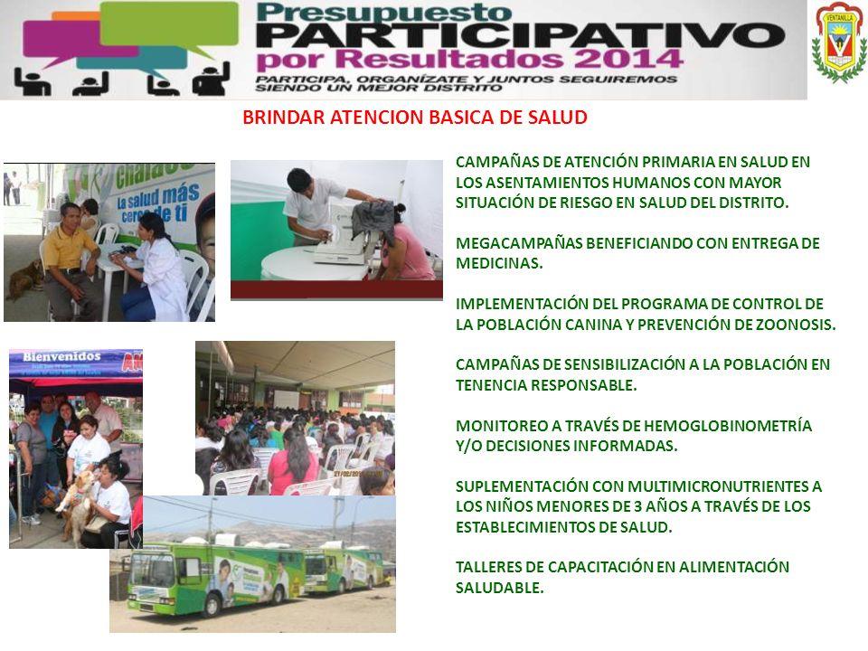 BRINDAR ATENCION BASICA DE SALUD