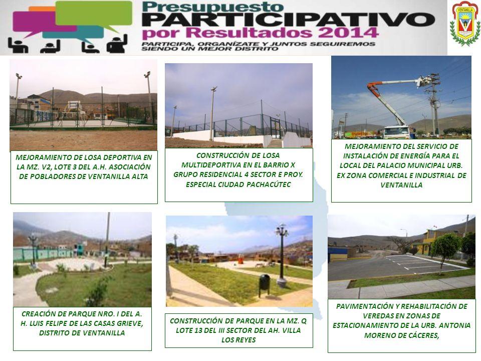 MEJORAMIENTO DEL SERVICIO DE INSTALACIÓN DE ENERGÍA PARA EL LOCAL DEL PALACIO MUNICIPAL URB. EX ZONA COMERCIAL E INDUSTRIAL DE VENTANILLA