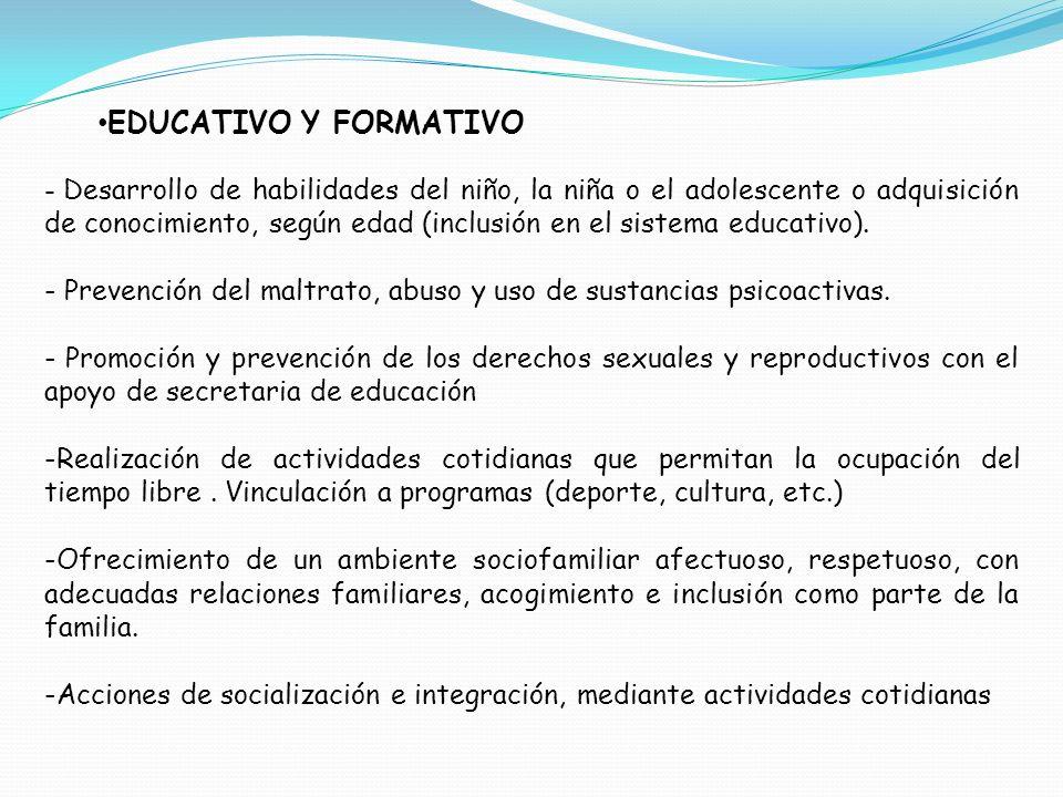 EDUCATIVO Y FORMATIVO