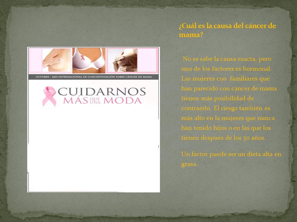 ¿Cuál es la causa del cáncer de mama