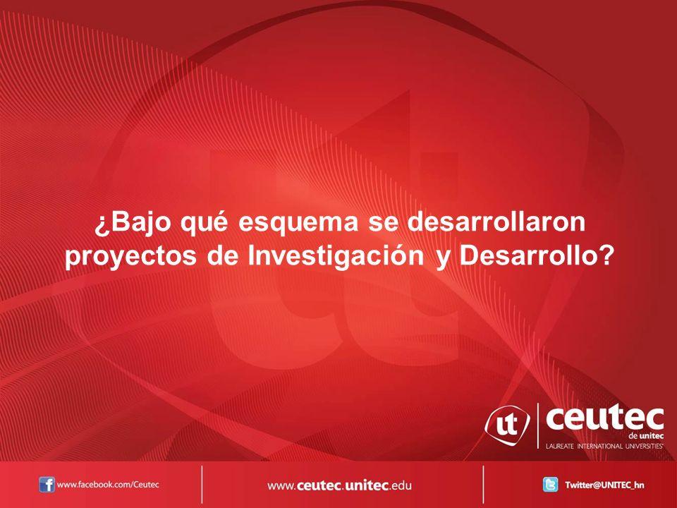 ¿Bajo qué esquema se desarrollaron proyectos de Investigación y Desarrollo