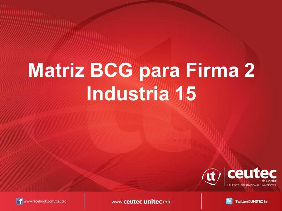 Matriz BCG para Firma 2 Industria 15
