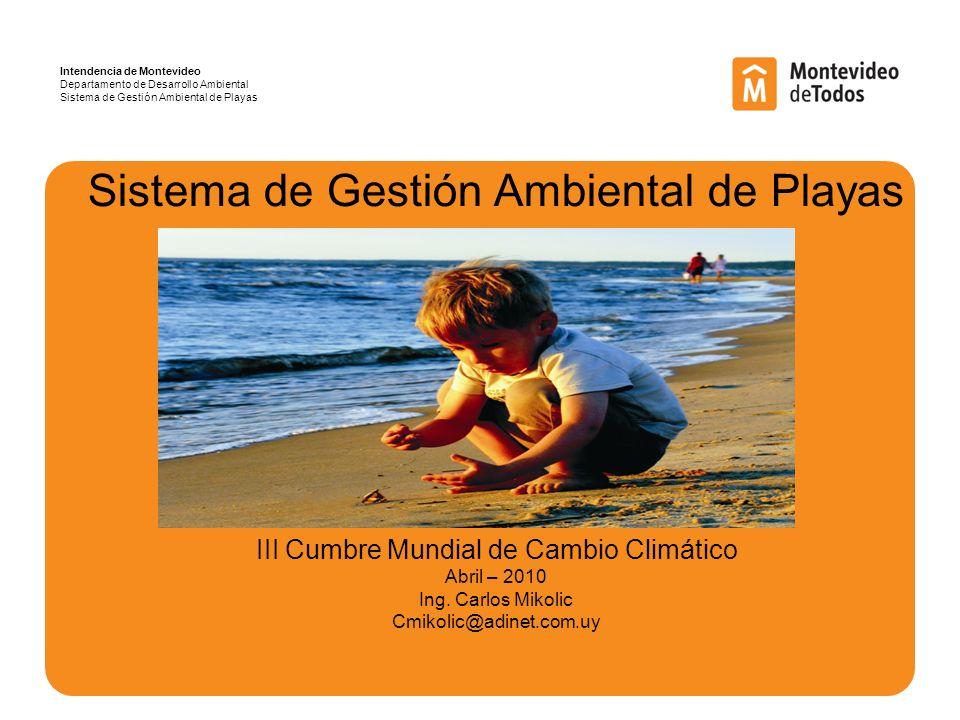 Sistema de Gestión Ambiental de Playas