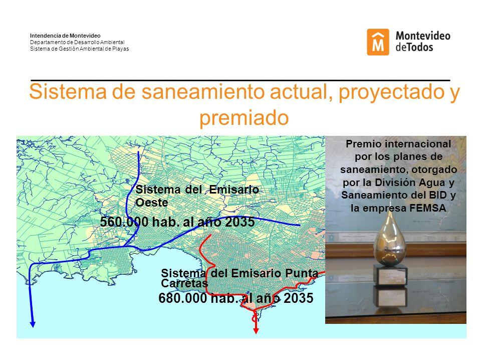 Sistema de saneamiento actual, proyectado y premiado