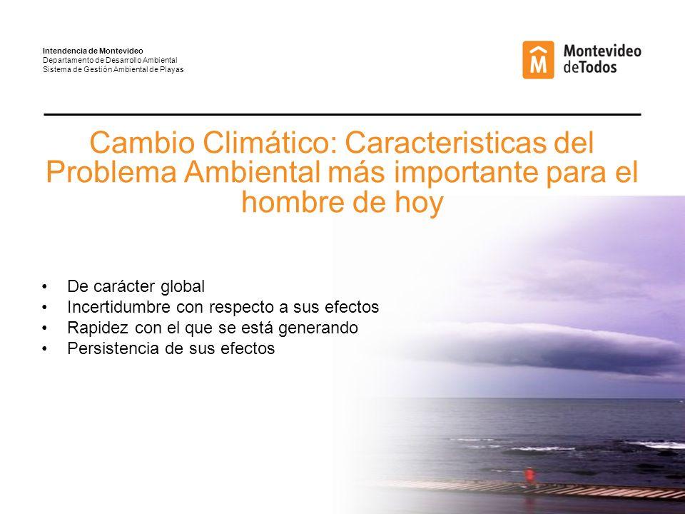 Intendencia de Montevideo Departamento de Desarrollo Ambiental Sistema de Gestión Ambiental de Playas
