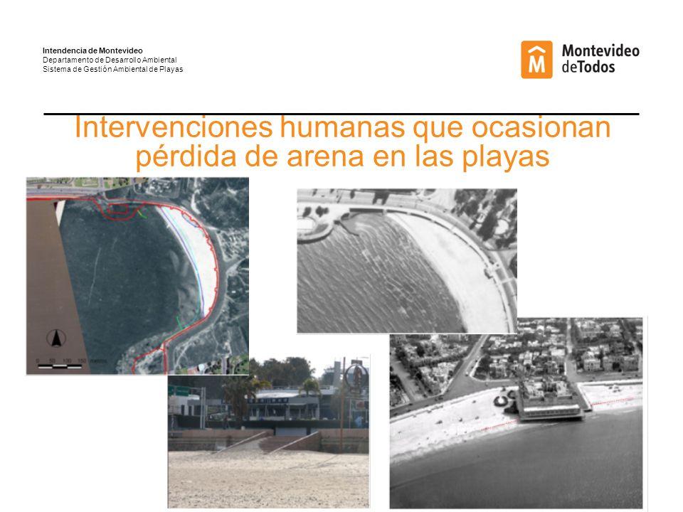 Intervenciones humanas que ocasionan pérdida de arena en las playas