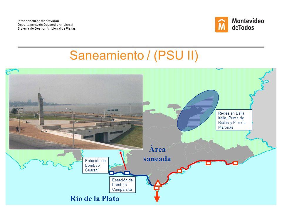 Saneamiento / (PSU II) Área saneada Río de la Plata