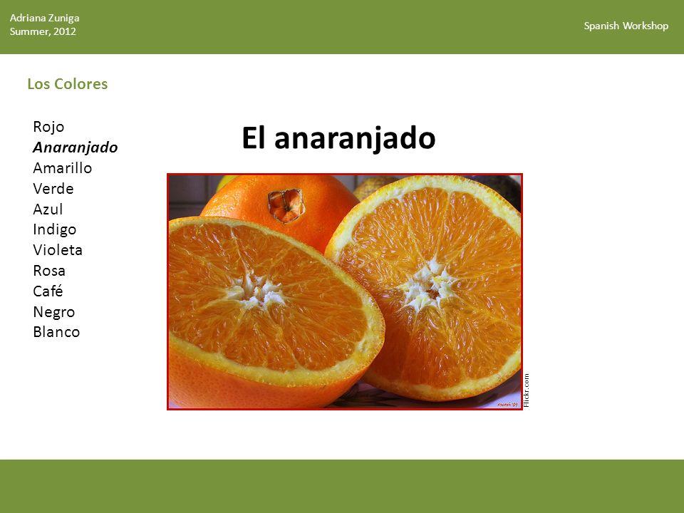 El anaranjado Los Colores Rojo Anaranjado Amarillo Verde Azul Indigo