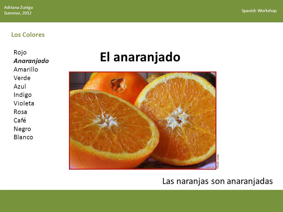 El anaranjado Las naranjas son anaranjadas Los Colores Rojo Anaranjado