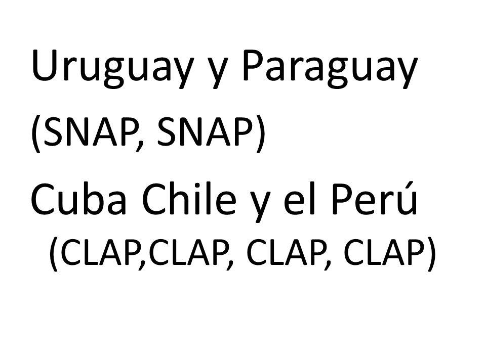Cuba Chile y el Perú (CLAP,CLAP, CLAP, CLAP)