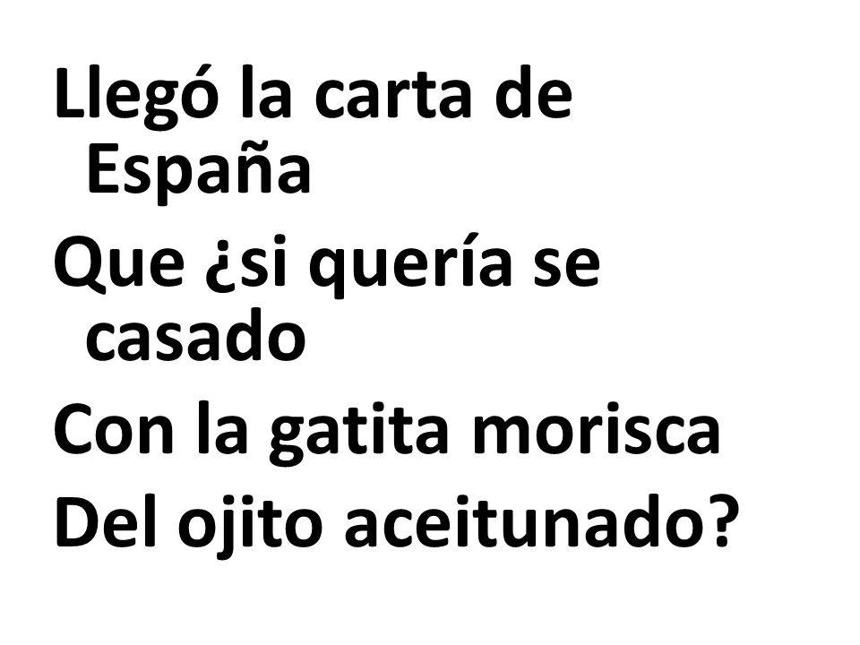 Llegó la carta de España