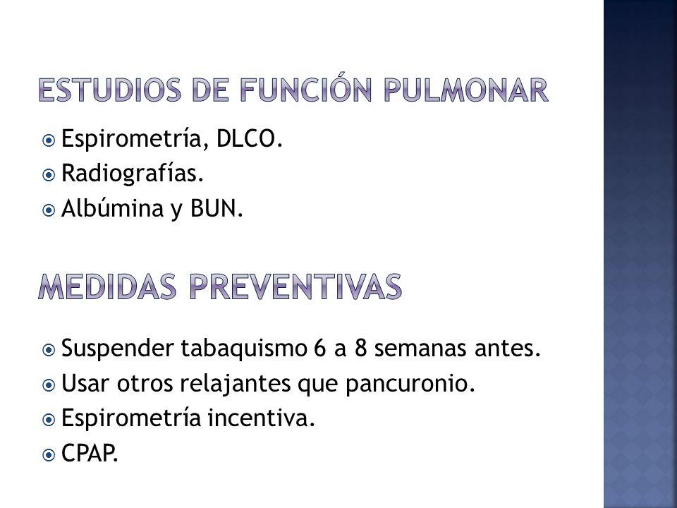 Estudios de Función pulmonar