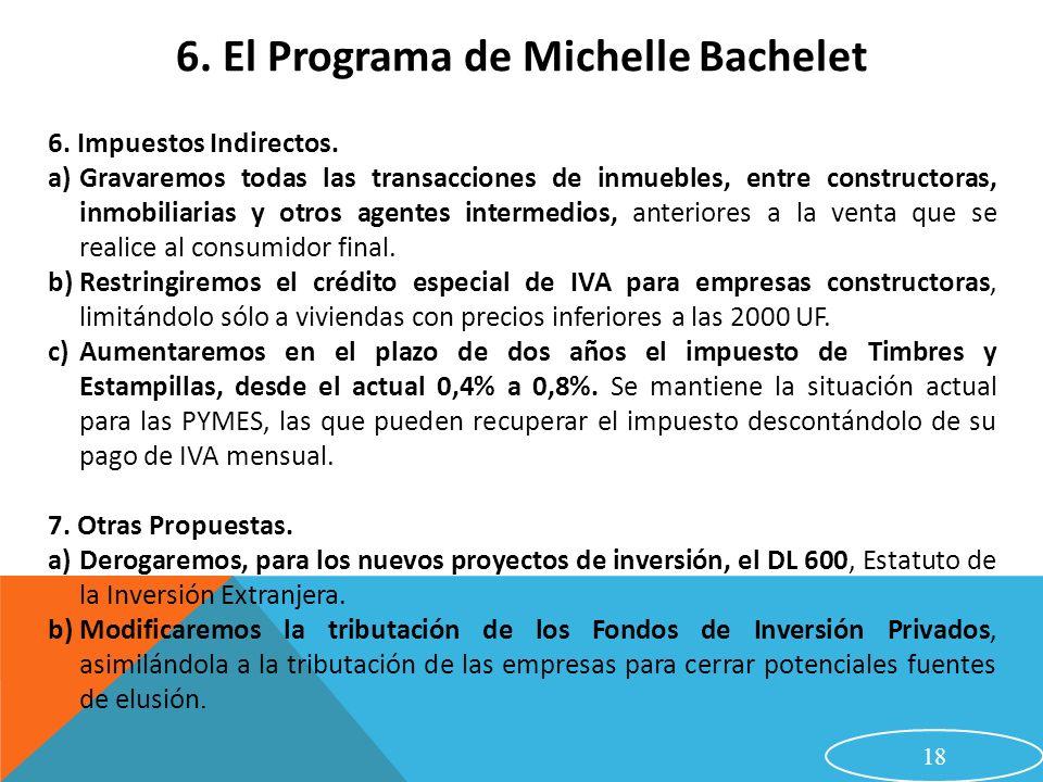 6. El Programa de Michelle Bachelet