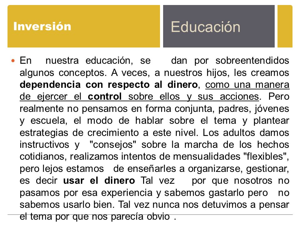Inversión Educación.