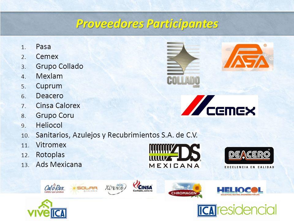 Proveedores Participantes