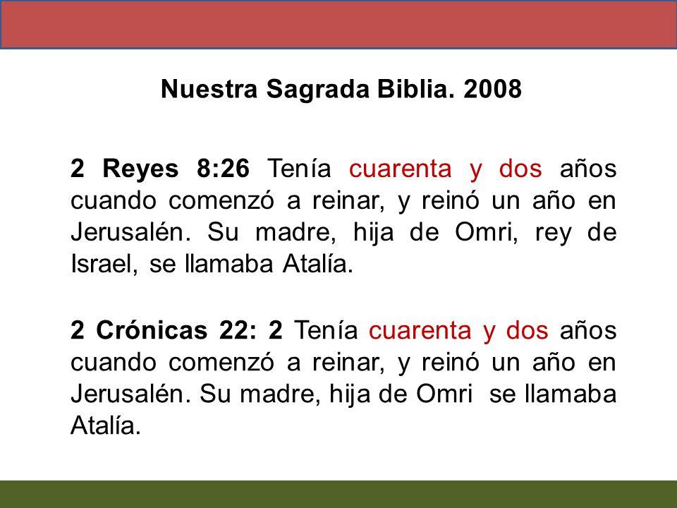 Nuestra Sagrada Biblia. 2008