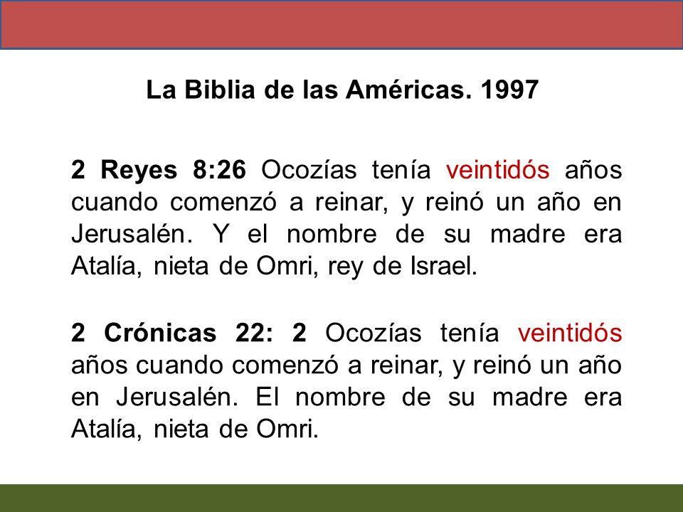 La Biblia de las Américas. 1997