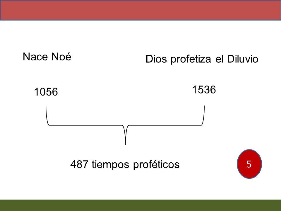 Nace Noé Dios profetiza el Diluvio 1536 1056 5 487 tiempos proféticos
