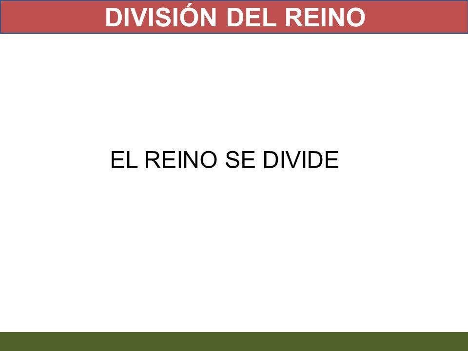 DIVISIÓN DEL REINO EL REINO SE DIVIDE