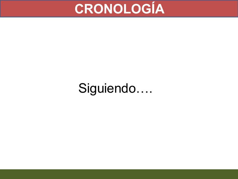 CRONOLOGÍA Siguiendo….